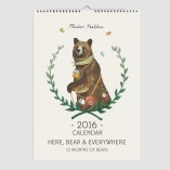 2016 Here Bear and Everywhere Calendar