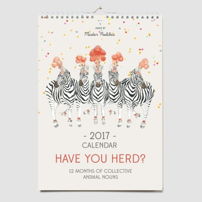 2017 Calendar Have you Herd? Mister Peebles