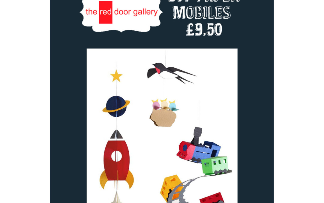 3 SleepsTill Christmas!  Rocket, Bird & Train DIY Paper Mobiles – £9.50
