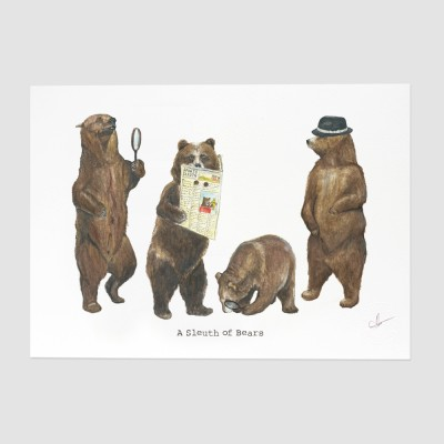 A Sleuth of Bears Print
