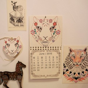Animal Wall Calendar June