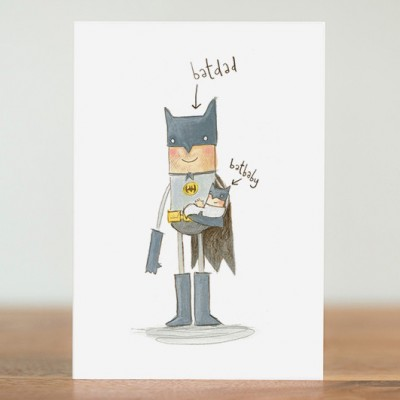 BatDad and Batbaby card by The Grey Earl