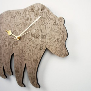 Bear Clock Detail 1