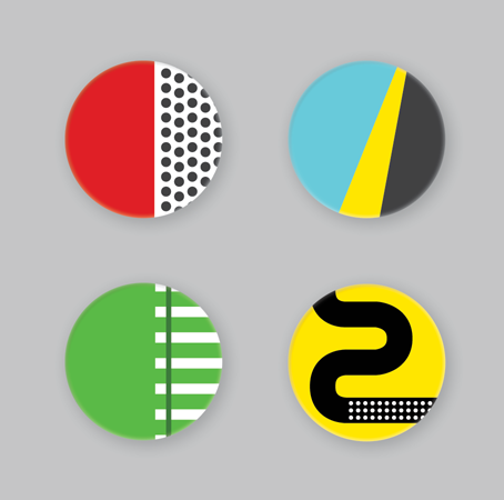 Bike Race Badge Pack