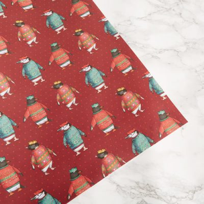 Christmas Penguin Parade Wrap