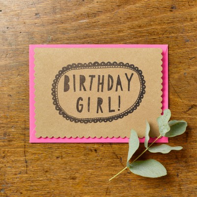 Birthday Girl Card by Katie Leamon