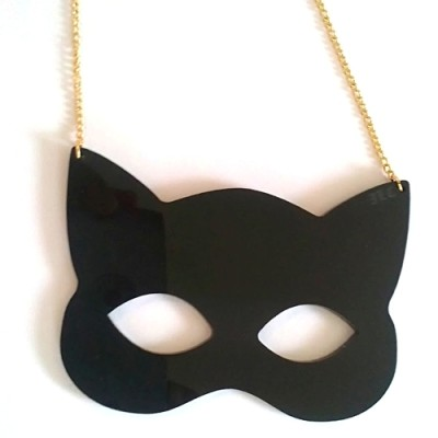 Black Mask Necklace