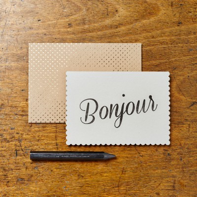 Bonjour Card by Katie Leamon