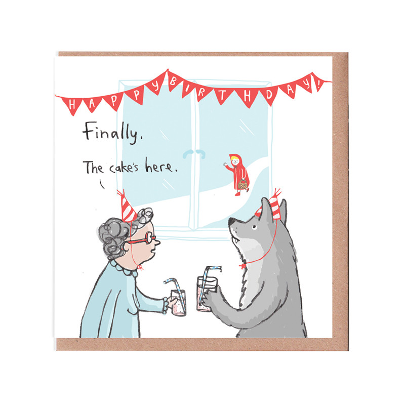 Cake Has Arrived Card by Sarah Ray  sc 1 st  The Red Door Gallery & Cake Has Arrived Card - Humour Fun and Puns Paper cards \u0026 books ...