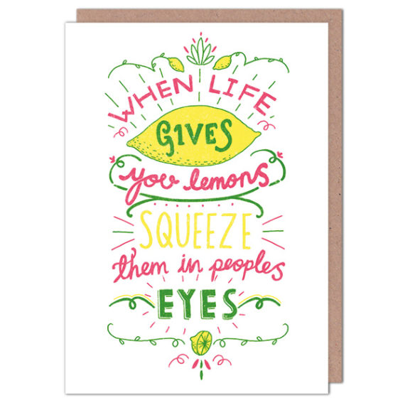 When life gives you lemons card whats new cards wrap when life gives you lemons card whats new cards wrap greetings cards the red door gallery art prints design products and creative gifts m4hsunfo