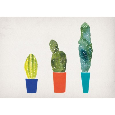 Cacti print by claire fleck