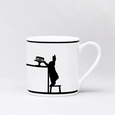 Cake Loving Rabbit Mug Front