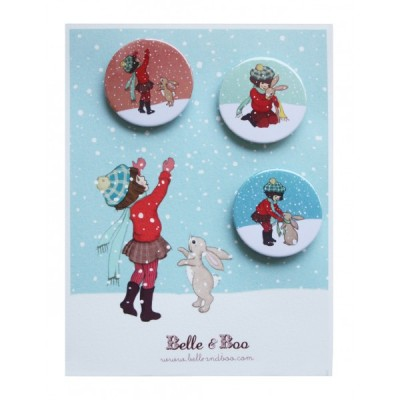 Catching Snow 3 Badge Set