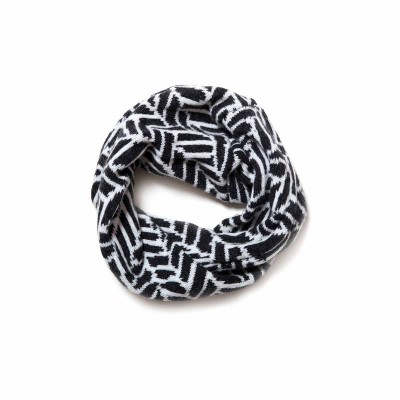 Charcoal and White Wave Twist Scarf by Kirsteen Stewart