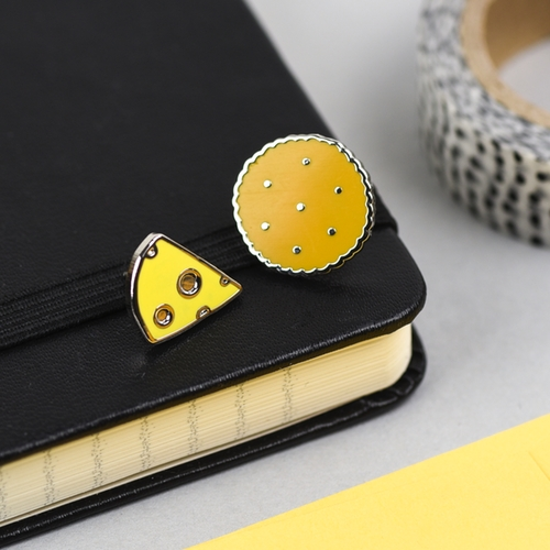 Cheese & Biscuits Pin Set by Hello Sunshine