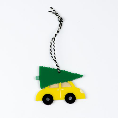 Christmas Tree, Car, Christmas Decs, Decoration, Acrylic, Wood, Christmas Tree