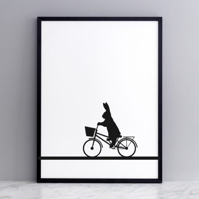 City Bike Rabbit print