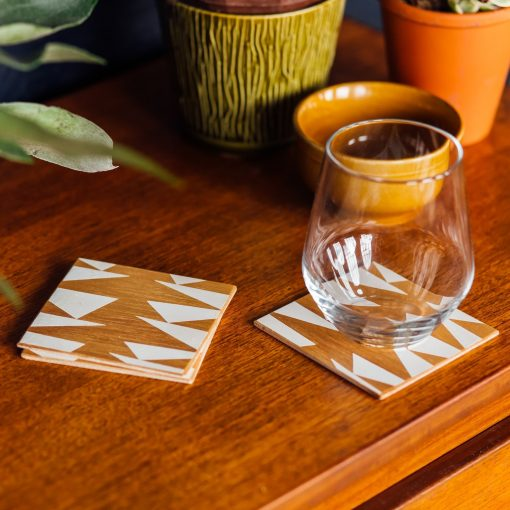 Ding Ding Screen Printed Coasters