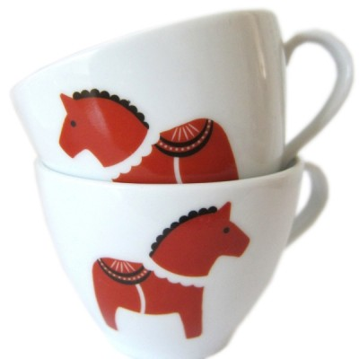 Dala Horse Porcelain Stickers