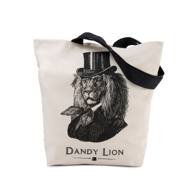 Dandy Lion Printed Canvas tote bag by Chase and Wonder