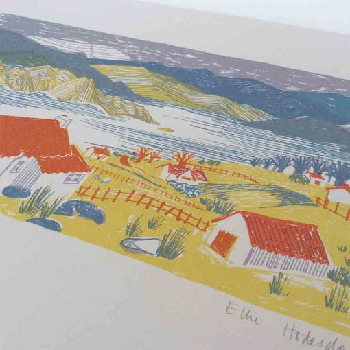 the highlands, the great glen, screen print, art work, east end press