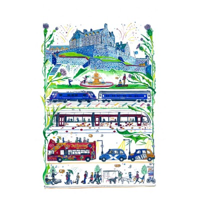 Edinburgh Arrivals by Libby Walker