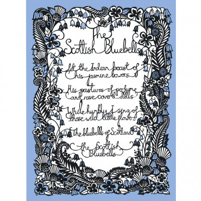 Emily Hogarth The Scottish Bluebells Screenprint