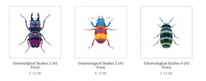 Entomological Studies prints by the lindstrom effect