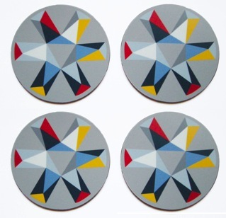 FMG Kaleidoscope Coaster set Grey 300 RGB