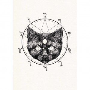 familiar, cat, sinister, occult, science, scary cat, peter carrington