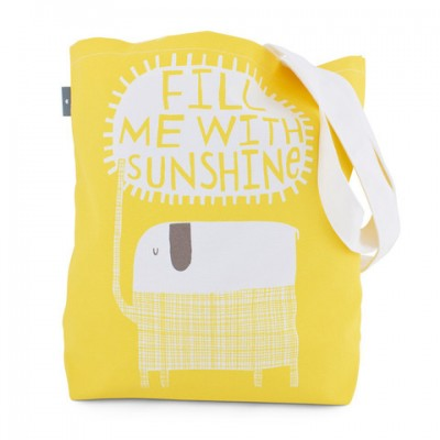 Fill me with sunshine - yellow bag by Freya