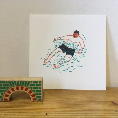 Floating Man print