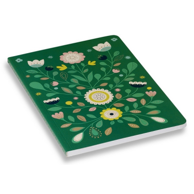 Folk Green Notebook