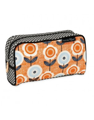 The perfect flowery orange wash bag for all your travel needs.