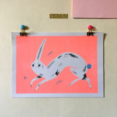 flourescent-pink-rabbit-by-helena-covell