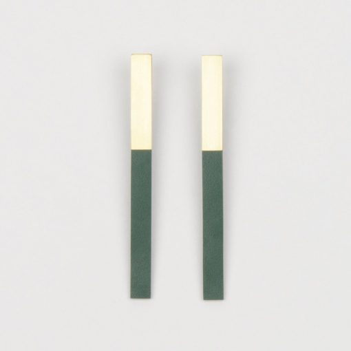 Form Bar Earrings by Tom Pigeon