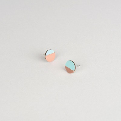 Form Circle Earrings Mint