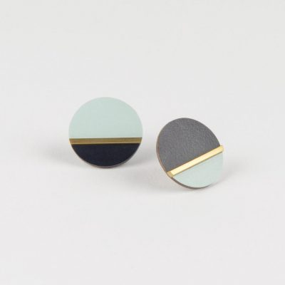 Form Disc Earrings by Tom Pigeon