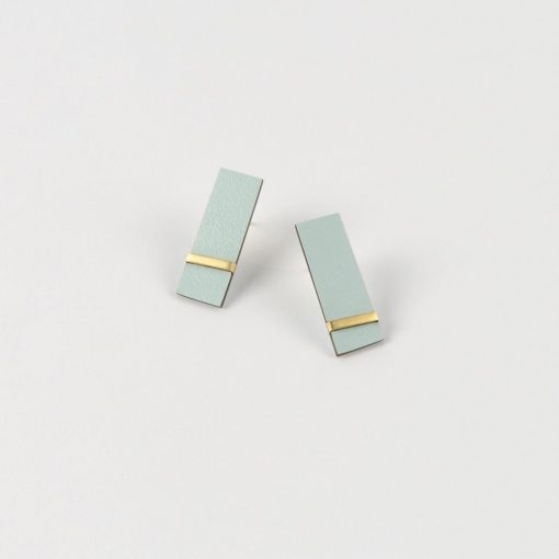 Form Rectangle Earrings by Tom Pigeon