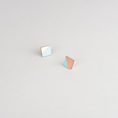 Form Square Earrings Mint