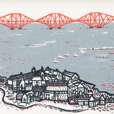 Forth Rail Bridge Screen Print by Susie Wright