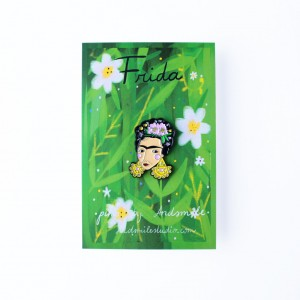 Frida Kahlo, Pin Badge, Brooch, Frida, Feminist, Strong Woman, Influential artist