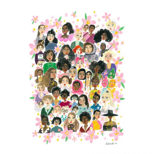 Bring on the Girl Power with this wonderful print by And Smile Studio. So many fierce ladies!