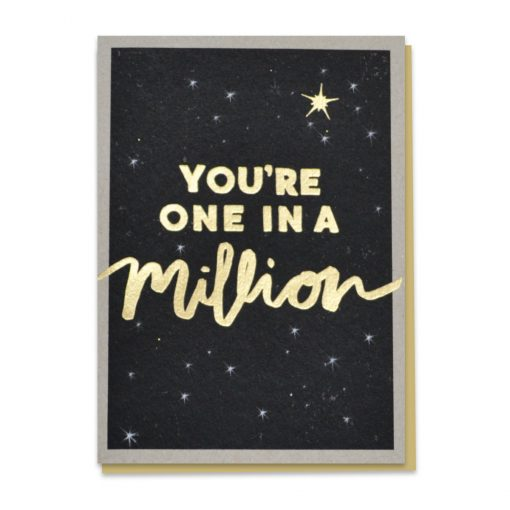 Gold One In A Million Card by Stormy Knight
