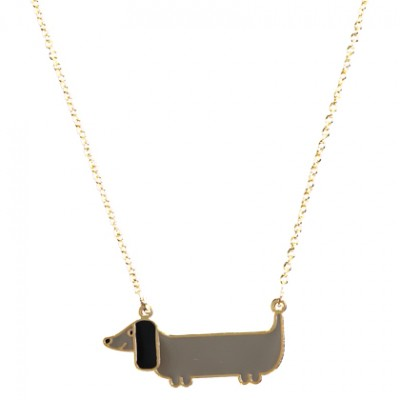 Grey Dachshund Necklace