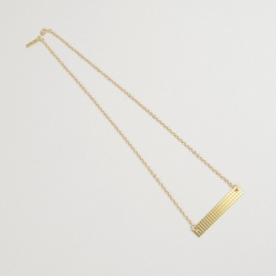Grid Necklace Brass