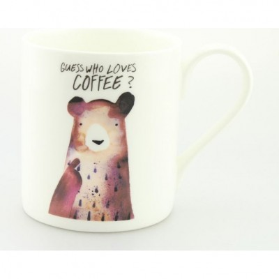 Guess Who Loves Coffee Mug - by Jolly Awesome