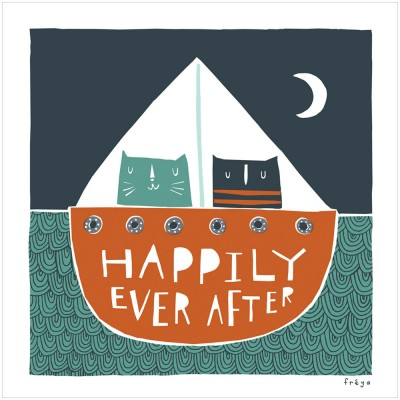 Happily ever after print by freya
