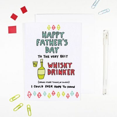 Happy-Fathers-Day-Whisky-Drinker-by-Angela-Chick-for the red door gallery