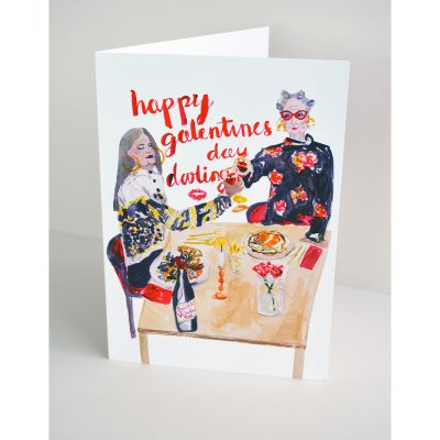 Happy Galentine's Day Card by Felicity Hamilton for ECA Student Project set by Nicky Brooks Curator